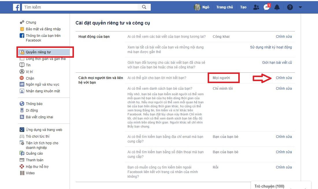công khai các tính năng tăng lượt theo dõi trên Facebook